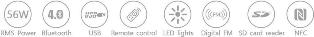 Характеристики акустической системы F&D F550X