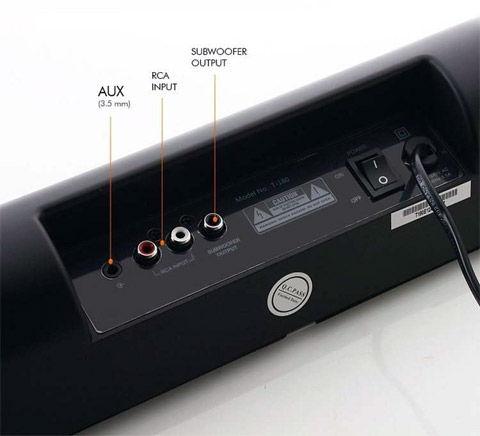 AUX RCA выходы саундбара F&D T180
