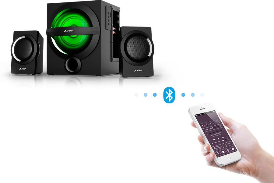 Управление по блютуз со смартфона F&D A140X